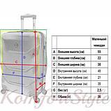 Дорожный чемодан на колесах Bonro 2019 маленький темно-синий (10500404), фото 4