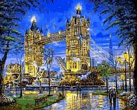 Картина по номерам 40×50 см. Mariposa Тауэрский мост Лондон Художник Роберт Файнэл (Q 2171)