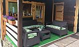Набор садовой мебели Corfu Relax Love Set Brown ( коричневый ) из искусственного ротанга ( Allibert by Keter ), фото 9