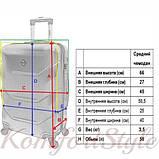 Дорожный чемодан на колесах Bonro 2019 средний желтый (10500500), фото 4