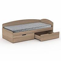 Кровать 90+2С дуб сонома  (95х204х70 см)