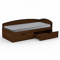 Кровать 90+2С орех экко  (95х204х70 см)