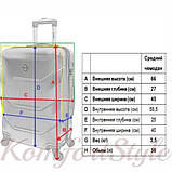 Дорожный чемодан на колесах Bonro 2019 средний шампань (10500508), фото 4