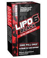 Жиросжигатель Nutrex Research Lipo-6 Black Ultra Concentrate, 60 капсул
