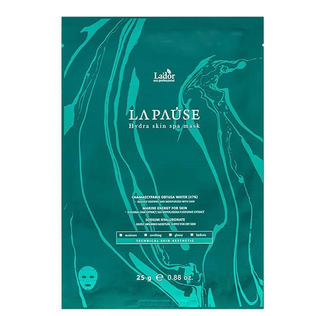 Зволожуюча тканинна маска для обличчя з морським колагеном La'dor La-Pause Hydra Skin Spa mask