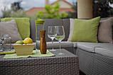 Набір садових меблів Corfu Relax Love Set Cappuccino ( капучіно ) з штучного ротанга Allibert by Keter, фото 10