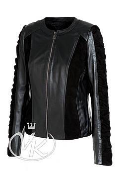 Куртка кожаная женская классика (NOV201-3)