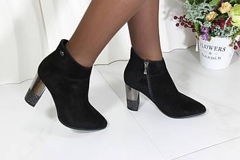 Замшевые черные ботинки малютки Berloni 217
