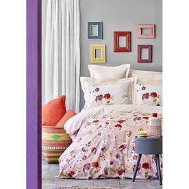Постельное белье Karaca Home ранфорс - Elia pembe 2020-1 розовый евро