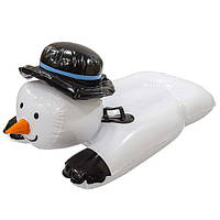 Надувные санки тюбинг For Fun Снеговик 89х57 см от 7 лет