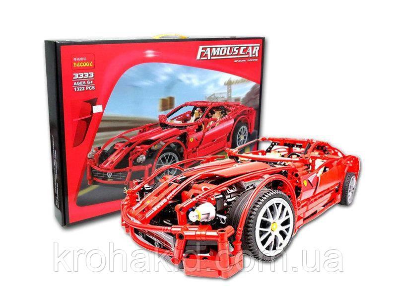 "Конструктор Decool 3333 ""Ferrari 599 GTB Fiorano "" 1322 дет ."