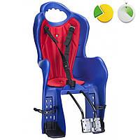 Детское велокресло на раму HTP design Elibas T (Синее)