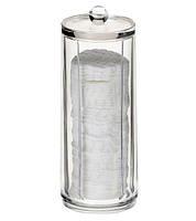 Подставка под спонжи 20 см пластиковая, прозрачная для ватных дисков (1 шт)