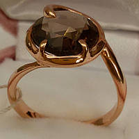 Золотые кольца c раухтопазом.