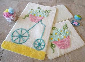 Набор ковриков для ванной комнаты 1 ALESSIA набор (3 предмета). Желтый