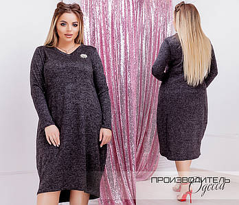 Платье-бочонок больших размеров