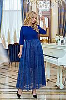 Платье / трикотаж, сетка / Украина 40-01170, фото 1