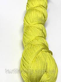 Шнур для одягу поліпропіленовий колір жовтий 100 метрів