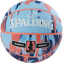М'яч баскетбольний Spalding NBA Marble 4Her Outdoor Sky Blue/Royal/Red Size 6