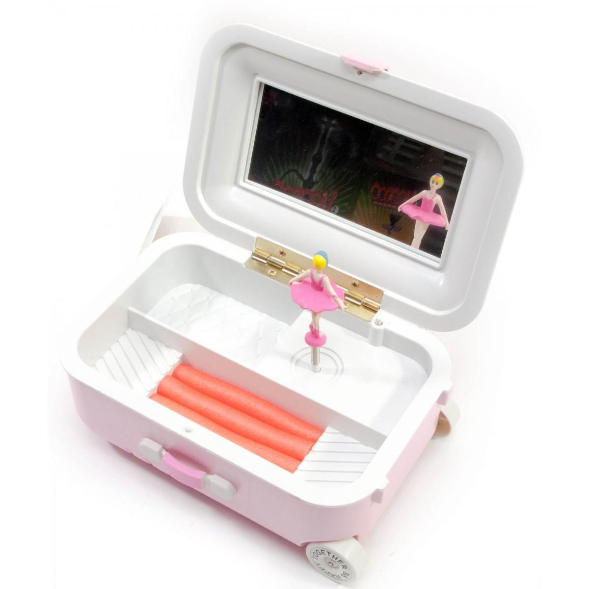 Музична скринька Валізку з балериною 17х10,5х7 см 28749A шкатулка для прикрас органайзер