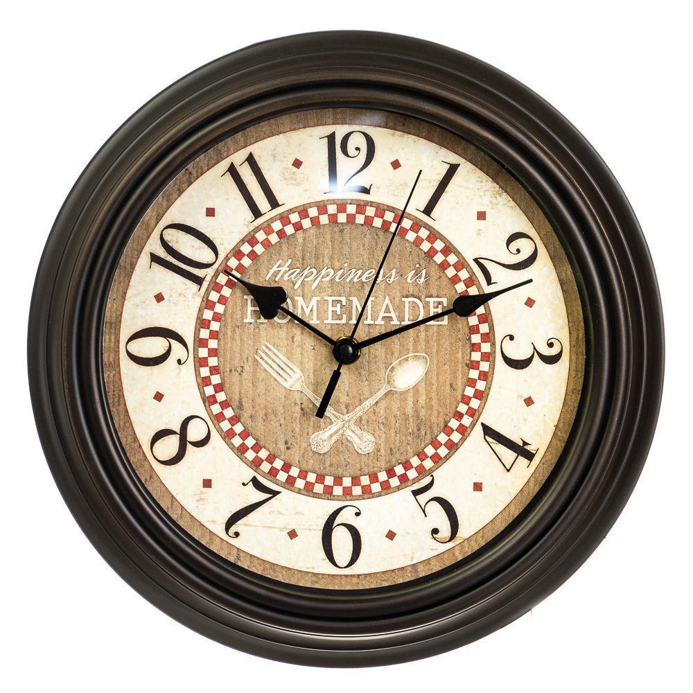 Часы настенные Veronese Кухня 30 см 12003-001 часы на стену