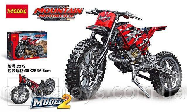 Конструктор Decool 3373 Горный мотоцикл 2 в 1, 253 детали в коробке (аналог Lego Technik)