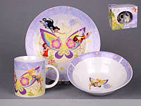 Набор детской посуды Lefard Волшебные феи 3 предмета 39-127