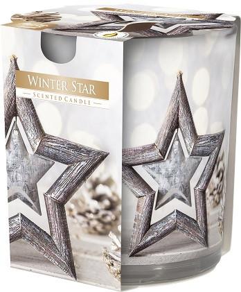 Свеча ароматизированная в стекле Bispol новогодняя звезда 7,8 см (sn72s-24)