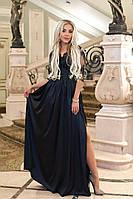 Платье / шелк иск., гипюр / Украина 40-1220, фото 1