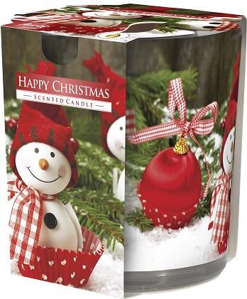 Свеча ароматизированная в стекле Bispol веселого рождества 7,8 см (sn72s-25)