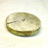 Срез (спил) шлифованный без коры с трещинами 16-18см