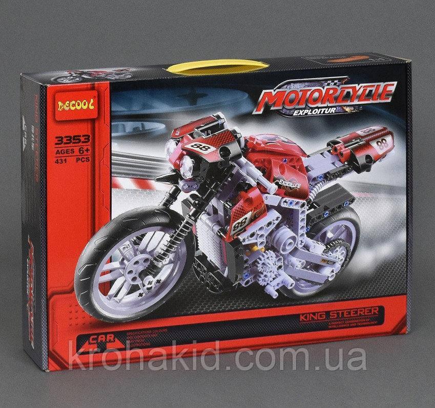 """Конструктор Decool 3353 """"Мотоцикл"""", 431 дет"""