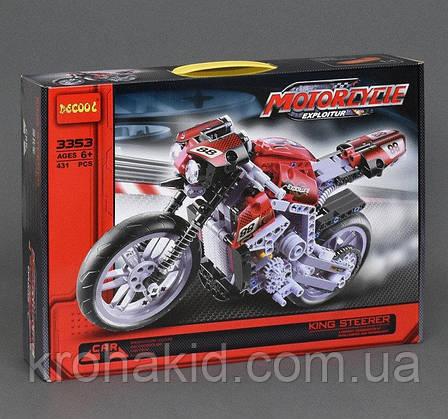 """Конструктор Decool 3353 """"Мотоцикл"""", 431 дет, фото 2"""