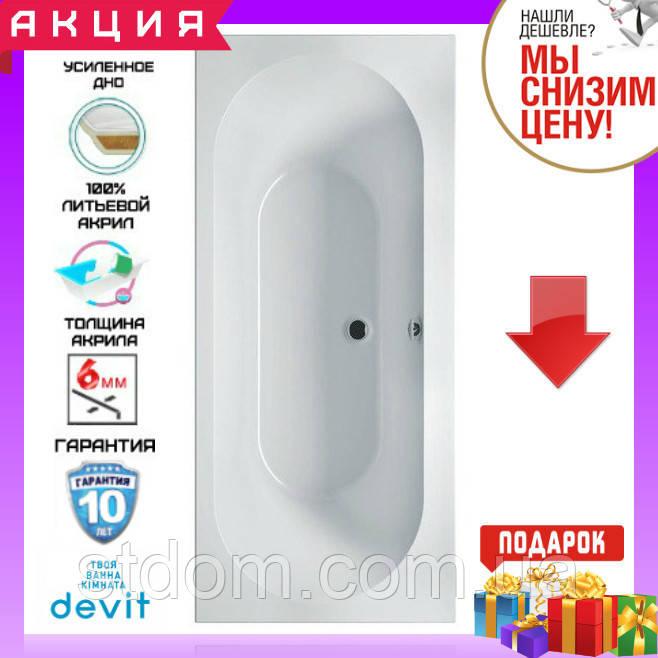 Прямокутна акрилова ванна 190x80 см Devit Soul 19080149
