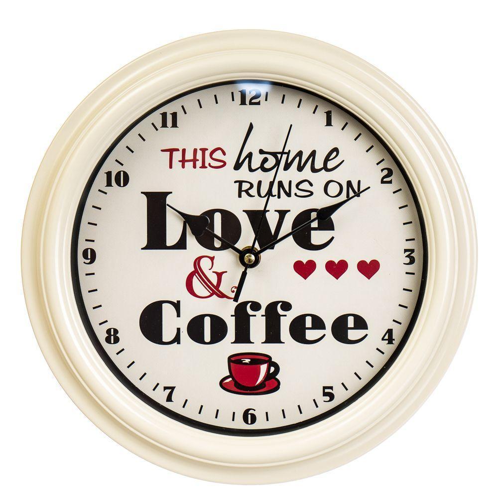 Часы настенные Veronese Кофе 28 см 12003-007 кухонные часы на стену цветные на кухню