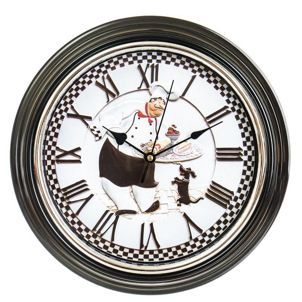 Часы настенные Veronese Приятного аппетита 30 см 12003-009 круглые часы на стену римские цифры