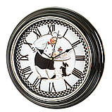 Часы настенные Veronese Приятного аппетита 30 см 12003-009 круглые часы на стену римские цифры, фото 2