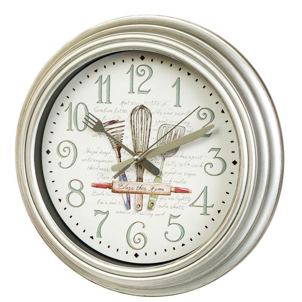 Часы настенные Veronese Кухня 30 см 12003-002 часы на стену