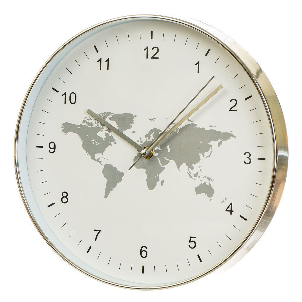Часы настенные Veronese Классика 30 см 12003-005 круглые часы на стену белые карта мира