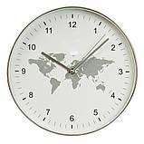 Часы настенные Veronese Классика 30 см 12003-005 круглые часы на стену белые карта мира, фото 3