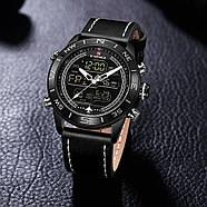 Мужские часы Naviforce 9144 с черным циферблатом, Чоловічий наручний годинник, фото 3
