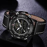 Мужские часы Naviforce 9144 с черным циферблатом, Чоловічий наручний годинник, фото 2