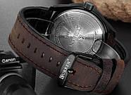Мужские часы Curren 8301 с черным циферблатом и коричневым ремешком, Чоловічий наручний годинник, фото 4