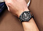 Мужские часы Curren 8301 с черным циферблатом и коричневым ремешком, Чоловічий наручний годинник, фото 6