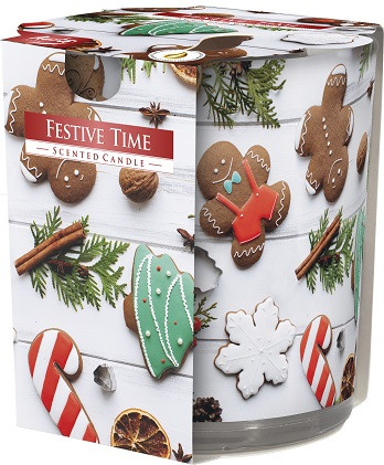 Свеча ароматизированная Bispol новогоднее время 7,8 см (sn72s-26)