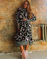 Платье Doratti Safari вязаное теплое с воротником под горло разные расцветки SMdor2858, фото 1