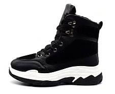 Ботинки черевики жіночі стильні зимові 38 розмір, фото 2