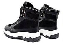 Ботинки черевики жіночі стильні зимові 38 розмір, фото 3