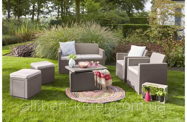 Набор садовой мебели Merano 6 Seater Set из искусственного ротанга