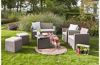 Набор садовой мебели Merano 6 Seater Set из искусственного ротанга, фото 1
